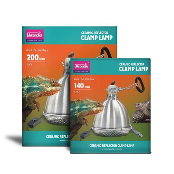 Arcadia Ceramic Reflector Clamp Lamp Tortoise Centre